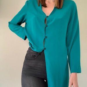 Vintage Marti green button down blouse